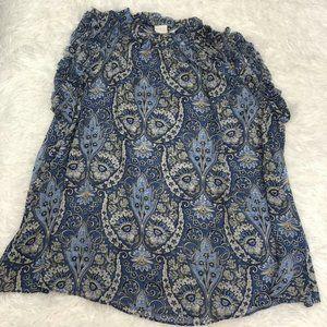 GAP Women's Size XSP Petite Blouse Paisley Print